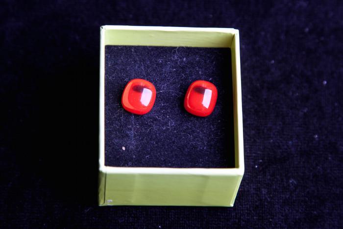 Rood vierkant glas - Lovendegem Online