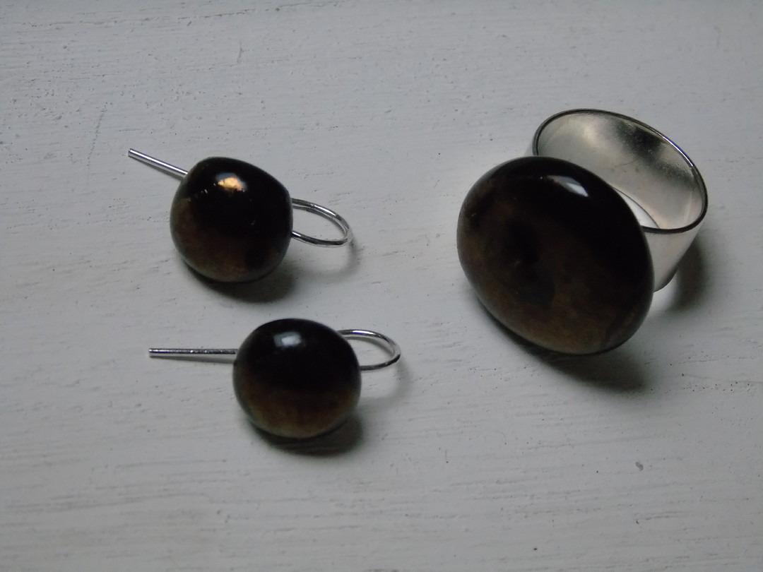 Glas rond bronskleur - Lovendegem Online