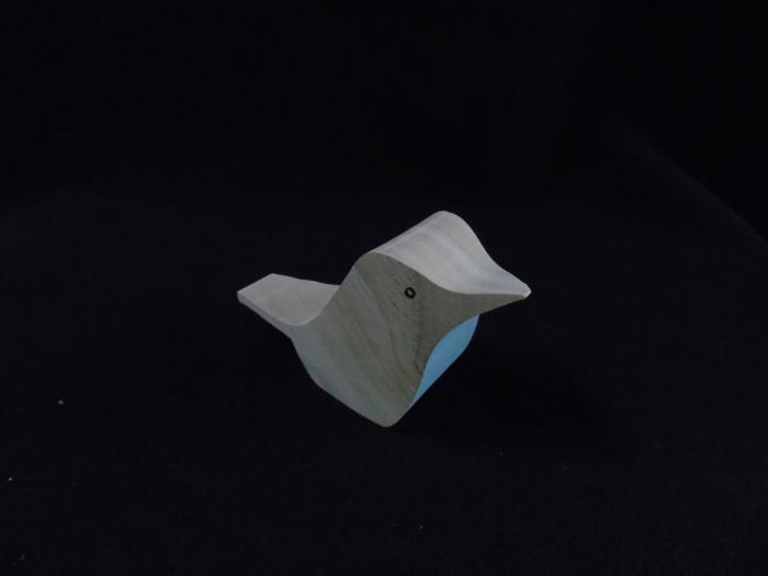Vogel met blauw geschilderd( ook in rood of lichtgroen) - Lovendegem Online